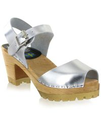 MIA - Greta Leather Clog Sandals - Lyst