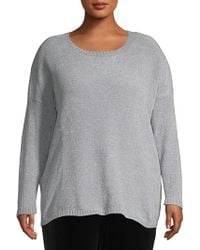 Lord & Taylor - Plus High-low Long-sleeve Jumper - Lyst