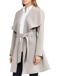 Lauren by Ralph Lauren - Drapey Wrap Coat - Lyst