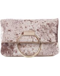 Sole Society - Velvet Top Handle Bag - Lyst