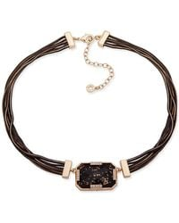Anne Klein - Jenk Multi-strand Crystal Chain Necklace - Lyst