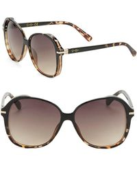 Jessica Simpson - 60mm Rounded Tortoiseshell Sunglasses - Lyst