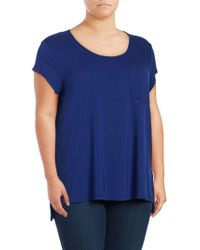 Lord & Taylor - Iconic Fit One Pocket Tee - Lyst