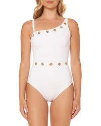 Bleu Rod Beattie - Grommeted One-shoulder Swimsuit - Lyst