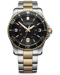 Victorinox Maverick Stainless Steel Analog Bracelet Watch - Metallic