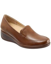 Trotters - Marche Leather Wedge Loafers - Lyst