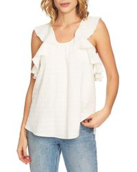 1.STATE - Ruffle Edge Crossback Cotton Top - Lyst