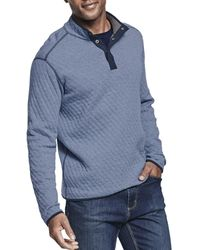 Johnston & Murphy Reversible Quilted Quarter-snap Sweater - Gray