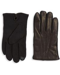 Polo Ralph Lauren Cashmere - Lined Leather Gloves - Black