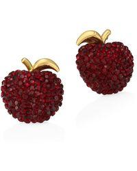 Kate Spade - Apple Stud Earrings - Lyst