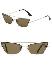 Mango Hannah Butterfly Sunglasses - Metallic