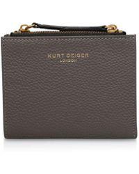Kurt Geiger - Textured Leather Mini Wallet - Lyst