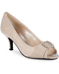 Caparros - Nohr Glitter Peep-toe Heels - Lyst