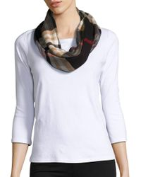 Lord & Taylor - Looped Plaid Scarf - Lyst