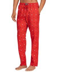 Polo Ralph Lauren Printed Cotton Pyjama Pants - Red