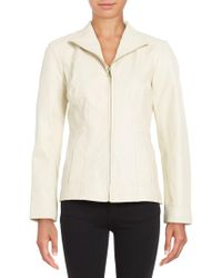 Cole Haan - Long-sleeve Wing-collar Jacket - Lyst