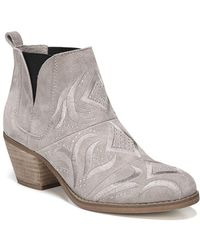 Fergie - Lexy Block Heel Leather Bootie - Lyst