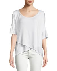 Project Social T - Bell-sleeve Cross-front Top - Lyst