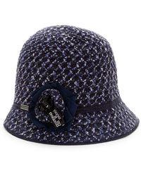 Betmar - Textured Flower Cloche Hat - Lyst