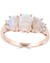 Effy Diamond And Three-opal Ring - Multicolour