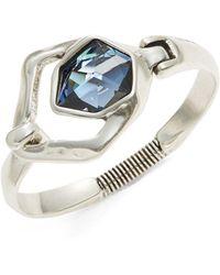 Uno De 50 - Fresh Sahara Blue Crystal Bracelet - Lyst