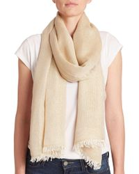 Lord & Taylor - Shimmer Frayed Scarf - Lyst