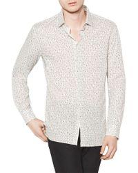 John Varvatos Floral Printed Shirt - White
