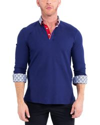 Maceoo Solid Newton Polo - Blue