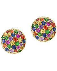 Effy Water Colour Multi-stone 14k Yellow Gold Stud Earrings - Metallic