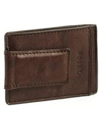 Fossil - Magnetic Multi-card Leather Wallet - Lyst