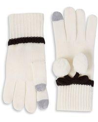 Kate Spade - Bow Pom-pom Gloves - Lyst