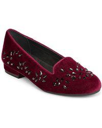 Aerosoles - Good Graces Velvet Loafers - Lyst