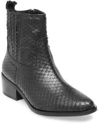 Steven by Steve Madden - Walden Textured Leather Boots - Lyst
