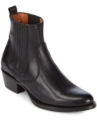 Frye - Diana Leather Booties - Lyst