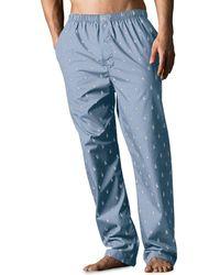 Polo Ralph Lauren Signature Print Cotton Pyjama Trousers - Blue