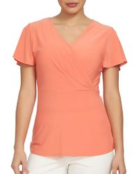 Chaus - Electric Sunset Solid Top - Lyst
