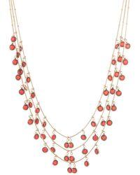 Anne Klein - Crystal Three-layer Necklace - Lyst
