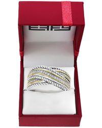 Effy Diamond And Sterling Silver Wrap Ring - Metallic