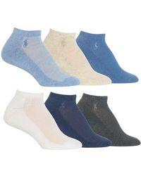 Ralph Lauren - 6-pack Low-cut Cushioned Socks - Lyst