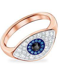 Swarovski Duo Evil Eye Ring - Multicolour