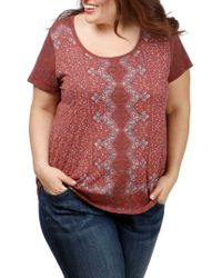 Lucky Brand - Trendy Plus Size Printed T-shirt - Lyst