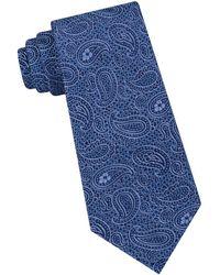 Ted Baker Tonal Paisley Silk Tie - Blue