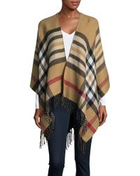 Lord & Taylor - Plaid Cape - Lyst