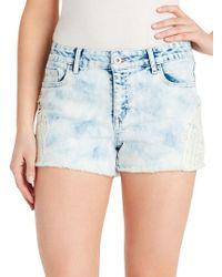 Jessica Simpson - Distressed Denim Shorts - Lyst