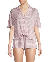 Honeydew Intimates 2-piece Striped Pyjama Set - Pink