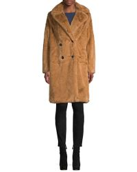 French Connection - Annie Faux Fur Coat - Lyst