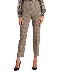 Elie Tahari Karis Graphic Check Trousers - Brown