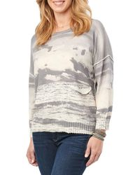 Democracy - Printed Cotton Sweater - Lyst