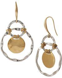 Robert Lee Morris Two-tone Orbital Drop Earrings - Metallic