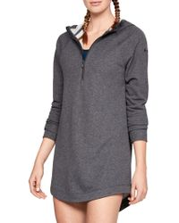 Under Armour - French Terry Sweater Dress - Lyst
